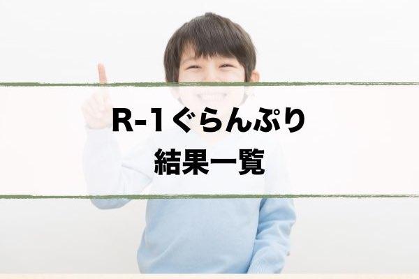 R-1ぐらんぷり2020結果